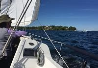 Sailing the Anne Marie on beautiful Lake Simcoe in Ontario, Canada